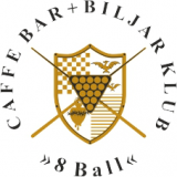 Caffe bar + biljar klub 8 ball logo